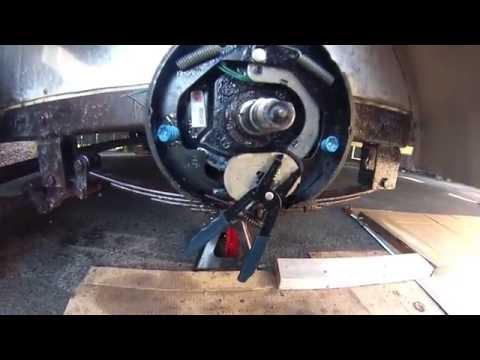 """Electric Trailer Brake Maintenance 10"""" x 2 1/4"""" - DIY"""