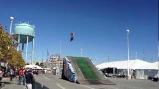 2012 Ocean City Bike Week - Freestyle Motocross Ramp Jumping in Slow Motion via SloPro iPhone App