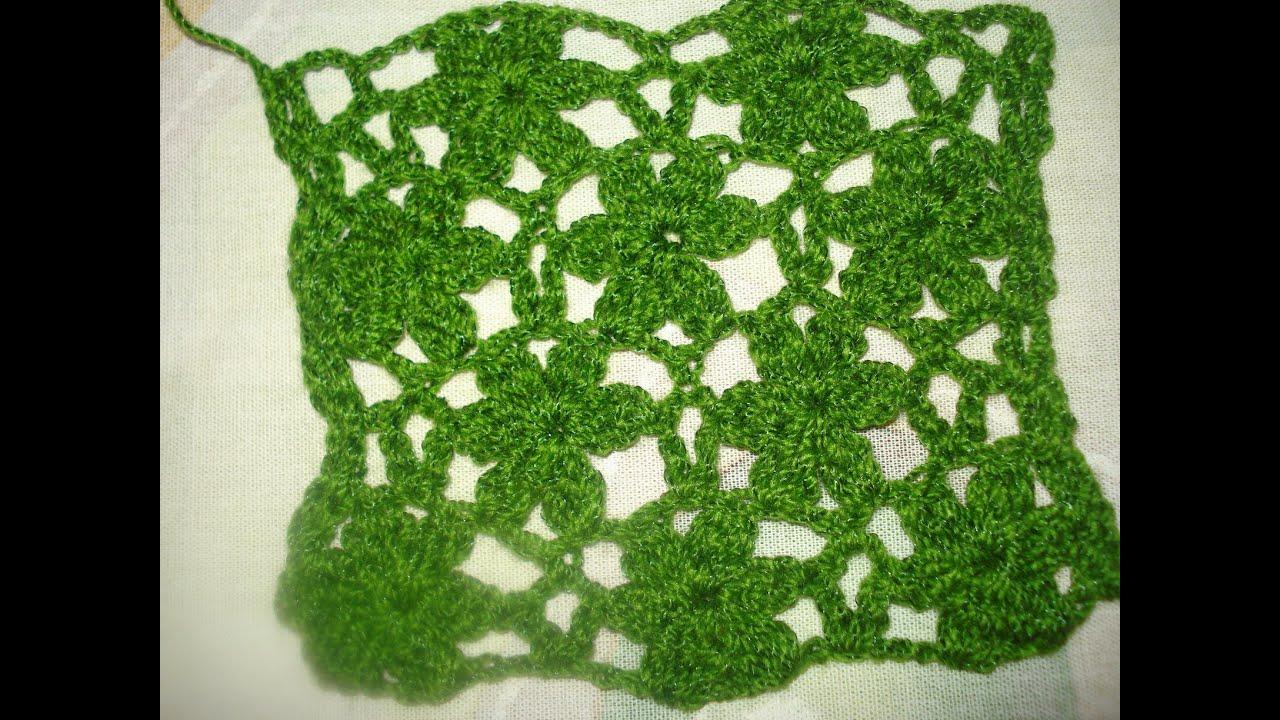 Muestra tejida flores youtube - Como hacer flores de ganchillo ...