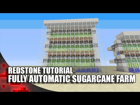 Minecraft: Simple Fully Automatic Sugarcane Farm!