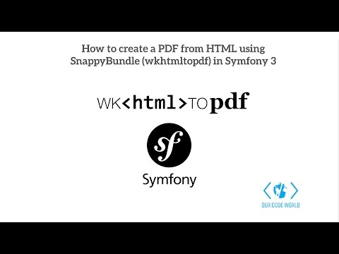 How To Create A PDF From HTML Using SnappyBundle (wkhtmltopdf) In Symfony 3