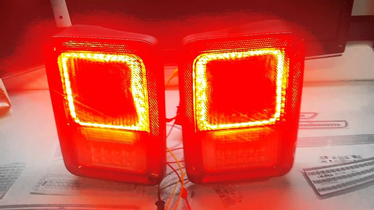 Custom Jeep Wrangler Led Tail Lights By Zleds Youtube
