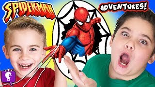 SPIDERMAN Toy Adventure with SKEE BALL and Kids Play