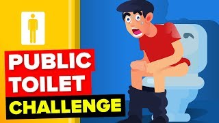 I Can Use Only Public Toilets For 7 Days || FUNNY ANIMATION CHALLENGE