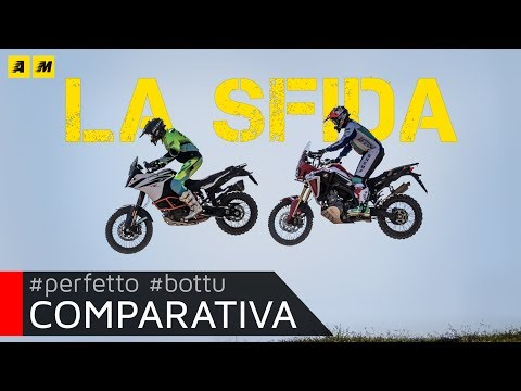 Honda Africa Twin CRF1000L VS KTM 1090 Adventure R: Motocross Test! [ENGLISH SUB]