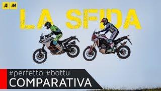 Honda Africa Twin CRF1000L VS KTM 1090 Adventure R: Motocross Test! [ENGLISH SUB]