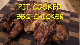 Pit Cooked BBQ Chicken on Weber Smokey Mountain