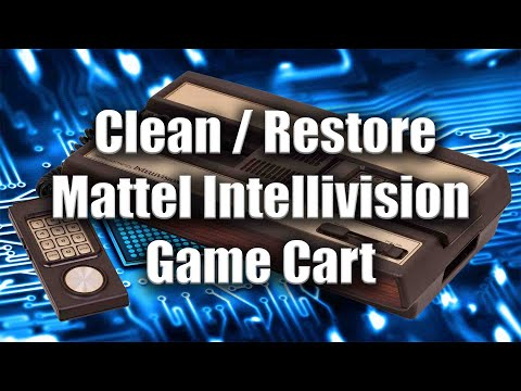 How To Clean Restore Mattel Intellivision Game Cart - ZanyGeek