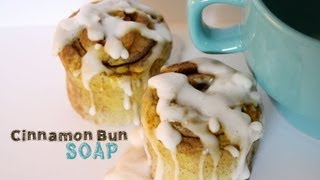 Cinnamon Bun Soap Tutorial - How To Make Dessert Soap Thumbnail