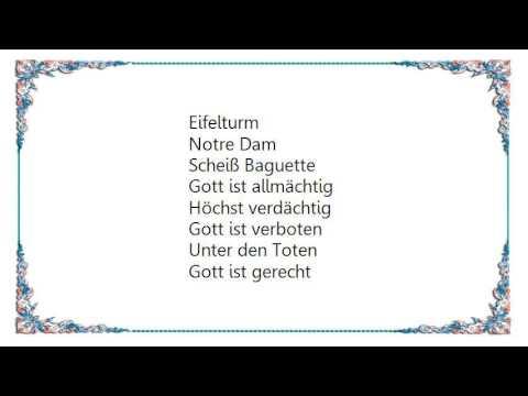 Westernhagen - Rosamunde Lyrics