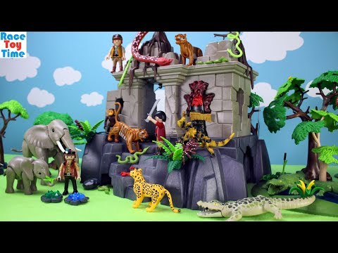 PLAYMOBIL Treasure Temple Adventure Playset with Jungle Animal Toys For Kids