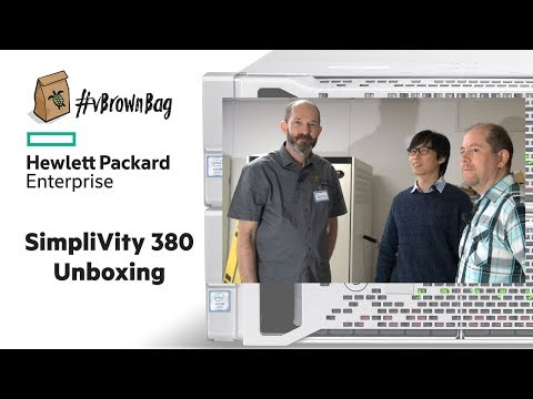 SimpliVity 380 Unboxing the HPE Factory Integrated Server Rack