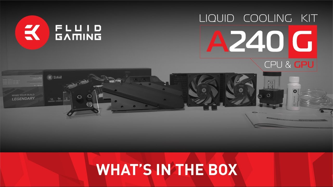 EK Fluid Gaming A240G - What's in the box?