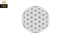 Flower of life symbol in Adobe Illustrator