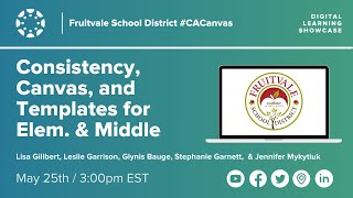 Consistency, Canvas, and Templates for Elementary and Middle with Fruitvale School District