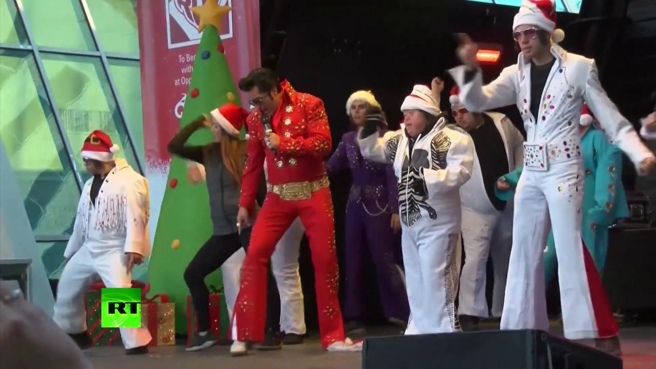 10 тыс. Санта-Клаусов приняли участие в забеге в Лас-Вегасе