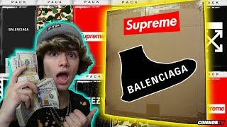 Spending $1,000 Online Mystery Booster Packs! Balenciaga Off White Supreme