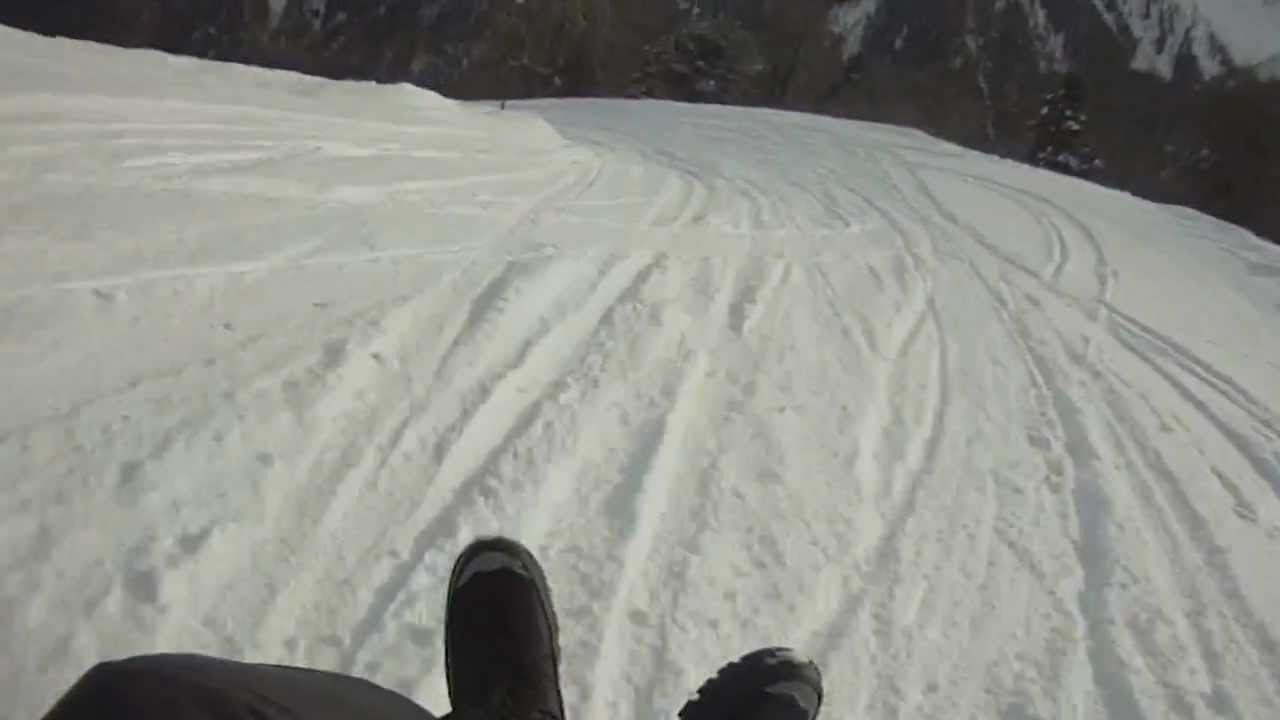 verbier 10k sled luge run with a wipe out at 6 20 youtube