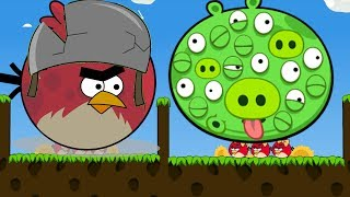 Angry Birds Cannon 3 - 100 EYES PIGGIES FORCE OUT HUGE TERENCE TO T...
