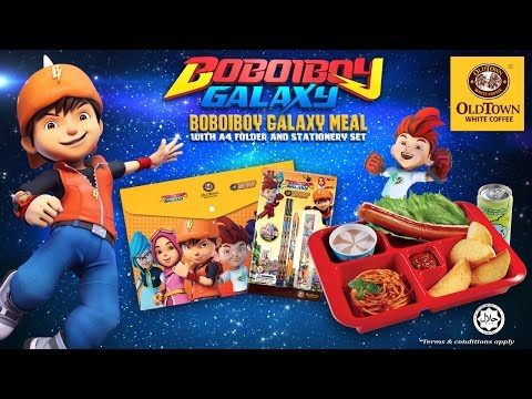 BoBoiBoy Galaxy Meal Promotion with OLDTOWN White Coffee