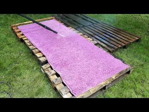 Как помыть ковёр за пять минут! Кёрхер нам поможет!