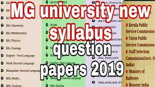 How To Downloded Mg University Previous Year Question Paper