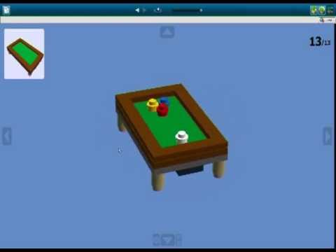How to build a lego pool table youtube for How to build a billiard table