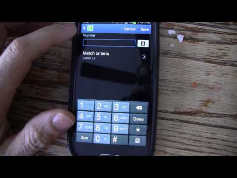 How to block calls from certain area codes - android