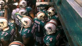 New England Patriots and Miami Dolphins Introductions on MNF 9/12/2011