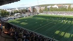 Opening of the renewed Keskuskenttä football stadium 10.7.2015, Rovaniemi, Lapland, Finland