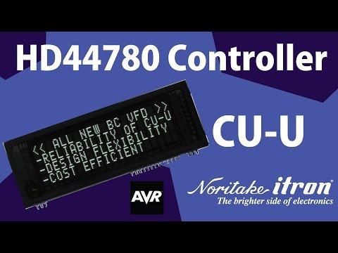 Noritake BC-VFD: DS2045G 20x4 HD44780 Controller Module - Atmel AVR SPI Demo