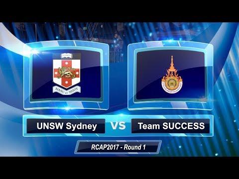 2017 RoboCup Asia-Pacific - Round 1 - UNSW Sydney Vs Team SUCCESS (Thailand)