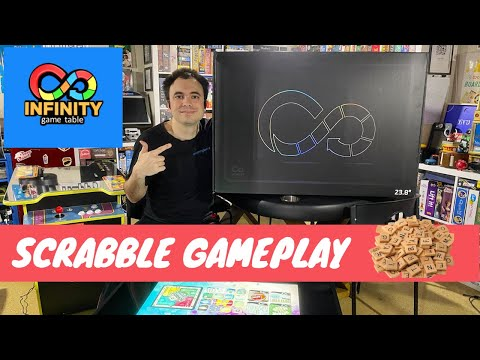 Infinity Game Table by Arcade1Up - Gameplay Showcase - Scrabble Digital Board Game from UrGamingTechie