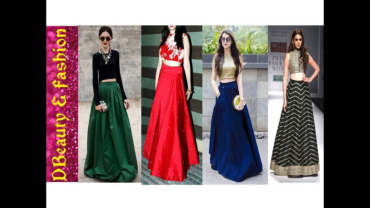 17a89a9668ed5b New Designer Crop Top with Long Skirt  Crop Top with Lehenga for Women.
