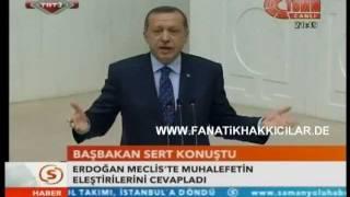 Recep Tayyip Erdogan Sert Konustu Muhalefetin Elestirilerini Cevapladi -Minareci-Ömer-11.7.2011