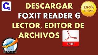 Descargar Foxit Reader 6 | Lector, Editor de PDF | Gratuito!