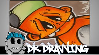 How to draw my new graffiti character Part 4