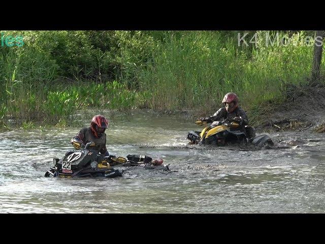 ATVs mud race