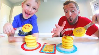Father & Son PLAY PANCAKE PILE-UP! / Stack The Fastest!