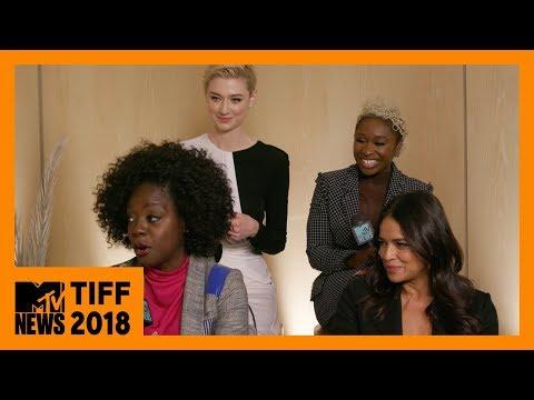 Viola Davis, Elizabeth Debicki, Cynthia Ervo, & Michelle Rodriguez on 'Widows'   TIFF 2018