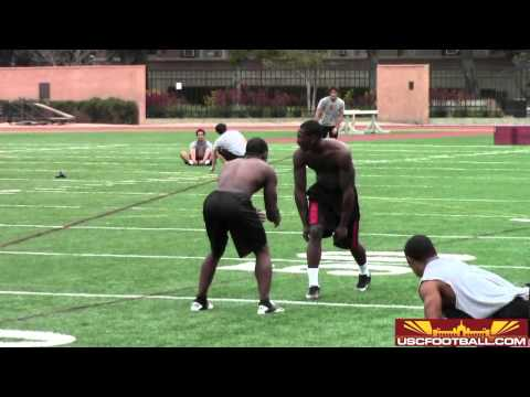 USC Summer workouts 1-on-1 drills from 6/4/13