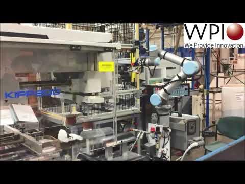 Wisconsin Plastics Inc. (WPI) Universal Robots UR5 robotic arm in action 1