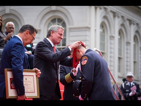 Mayor de Blasio Attends FDNY 148th Annual Medal Day Ceremony