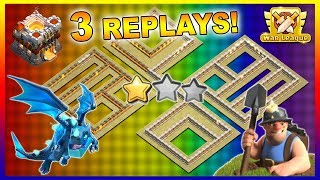 UNDEFEATED TH11 War Base 2019 With 3 Replays Anti E Dragon Anti Miner Town Hall 11 Defense Strategy