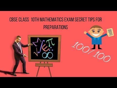 CBSE Board Exam Class 10 Mathematics Important Questions & Tips