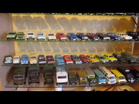 видео: Коллекция моделей отечественных авто в масштабе 1:43