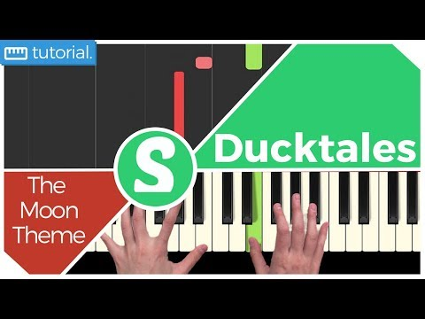 """How to play """"THE MOON THEME"""" from Ducktales   Smart Game Piano   Video Game Music"""