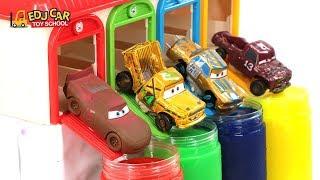 Learning Color Special Disney Pixar Cars3 Lightning McQueen Mack Truck Car Slime for kids car toys