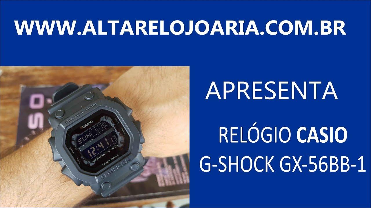 5c7b998421d Relógio Casio G-shock Gx-56bb-1 Militar Esportivo Gx56