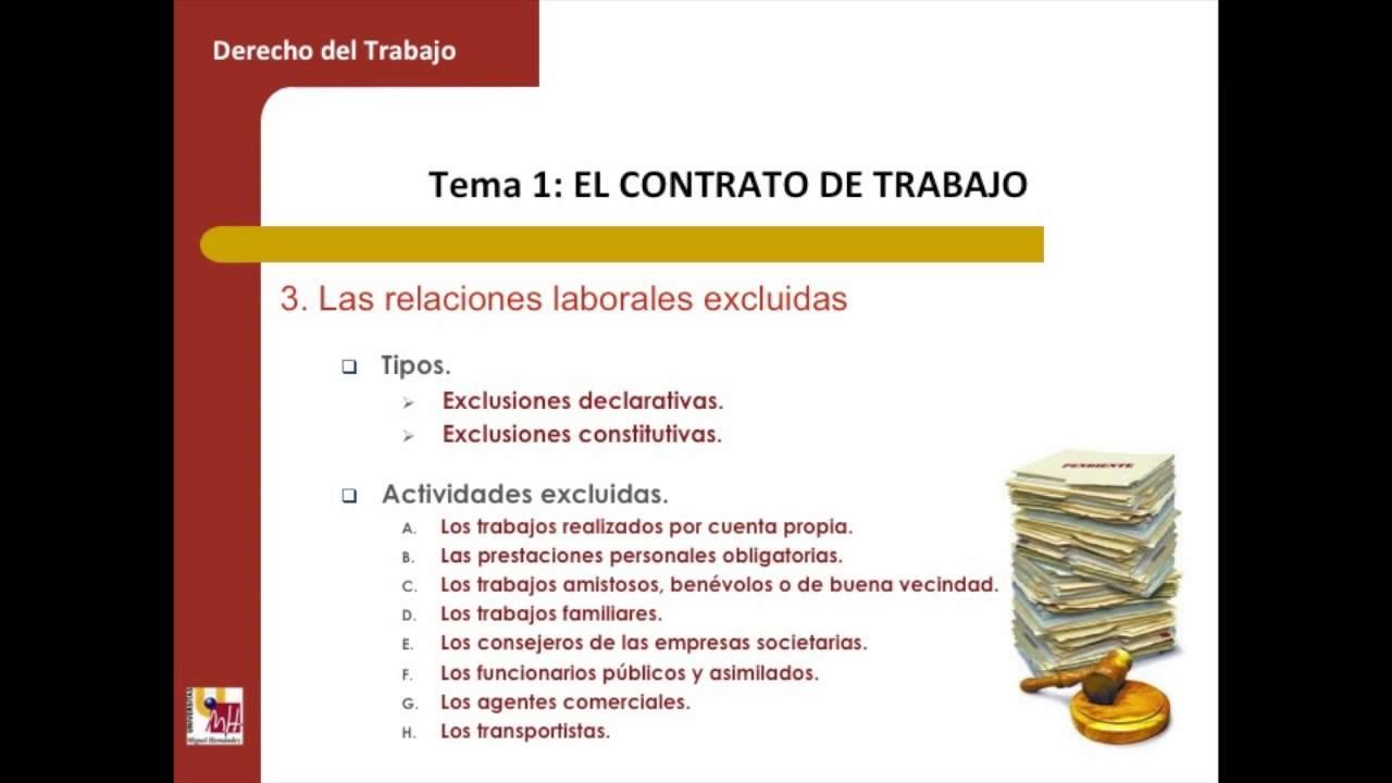 Lec004 Unidad 2 Tema 1 El Contrato De Trabajo Umh1444sp 2014 15 Youtube